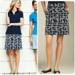 Talbots Navy Blue Pencil Skirt Sz 2